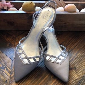 Adrianna Papell silver heels (size 10)